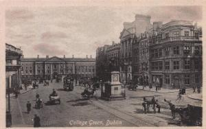 College Green, Dublin, Ireland, Early Postcard, Unused, Published by Valentine's