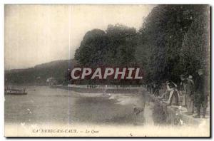 Old Postcard Caudebec en Caux Le Quai