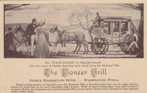 WASHINGTON, Pennsylvania, 00-10s; Mural, Pioneer Grill, George Washington Hotel