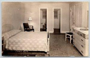 Saint Joseph MI~Toilet & TP~Grandma & Mary Cabin Like This w/One Bed RPPC 1946