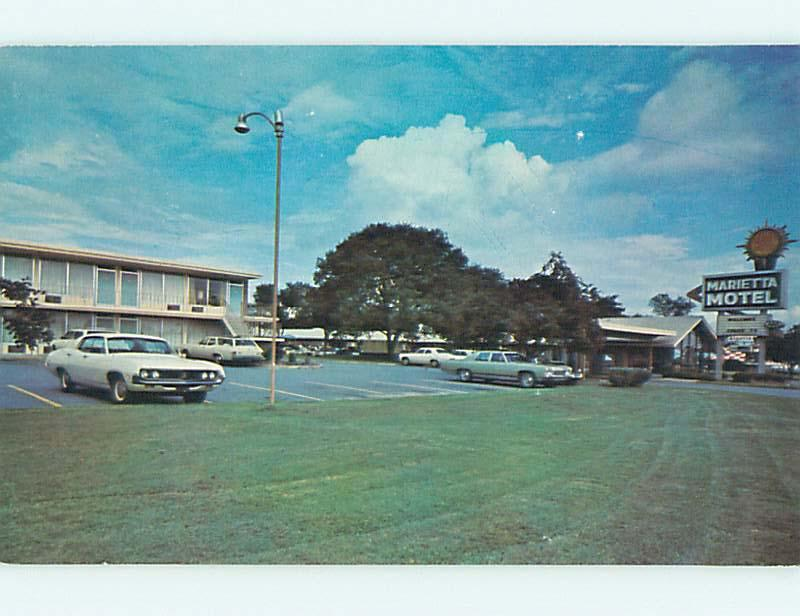 Unused Pre-1980 OLD CARS & QUALITY INN MOTEL Marietta Georgia GA u0943-14