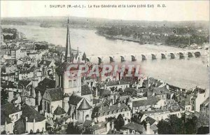 Postcard Old Saumur (M and L) The Vue Generale and the Loire (East Coast)