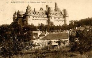 France - Pierrefonds. The Chateau, West Coast