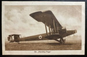 Mint Netherlands Real Picture Postcard Handley Page Biplane Bomber