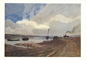 Vintage Art Postcard, Yarmouth River by John Sell Cotman 84S