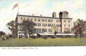 Newport News Virginia~Hotel Warwick~Italianate Belltower c1906 PC