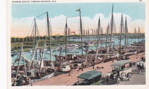 Florida Tarpon Springs Sponge Boats At Dock