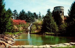 Pennsylvania Kennett Square Longwood Gardens Chimes Tower Waterfalls and Foun...