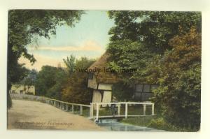 tp5488 - Kent - Thatched Cottage & Bridge at Frog Holt in Folkestone - Postcard