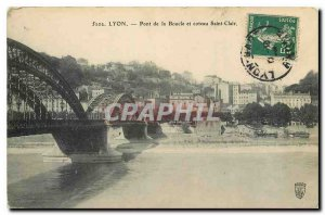 Old Postcard Lyon Mouth and hillside Pont Saint Clair
