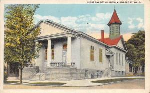 D26/ Middleport Meigs County Ohio Postcard c1910 First Baptist Church