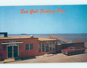 Pre-1980 RESTAURANT AT SEAGULL FISHING PIER ON CHESAPEAKE North Fork VA B9413