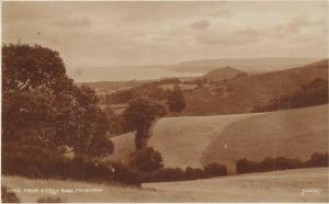Vintage 1930 Minehead Somerset Real Photo Postcard, View from Green Ball Z8