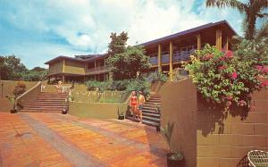 TUMON BAY, Agana Guam  CONTINENTAL TRAVELODGE Bathing Beauty ROADSIDE  Postcard