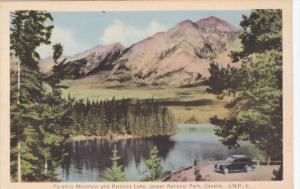 Pyramid Mountain & Lake, JASPER National Park, Alberta, Canada, 20-30s