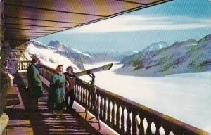 Switzerland Jungfrau Berghaus Galerie und Aletschgletscher