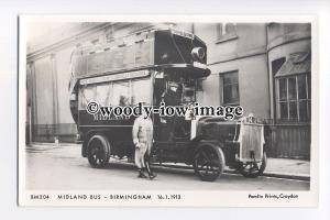pp2088 - Midland Bus - Birmingham in 1913  - Pamlin postcard
