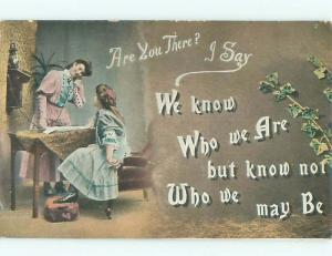 Divided-Back PRETTY WOMAN Risque Interest Postcard AA7787
