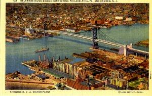 NJ - Camden. Delaware River Bridge & RCA Plant