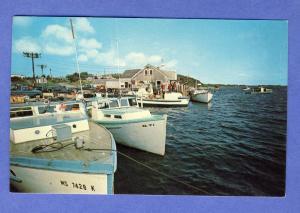 Chatham, MA/Mass Postcard, Fish Pier/Shore Road, Cape Cod