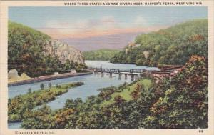 West Virginia Harper's Ferry Where Three States And Two River Meet