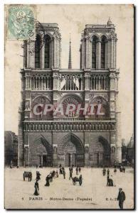 Old Postcard Paris Notre Dame (frontage)