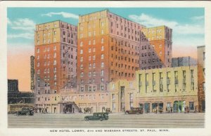 ST. PAUL, Minnesota, 1900-10s; New Hotel Lowry, 4th and Wabasha Streets