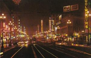California San Francisco Market Street At Night