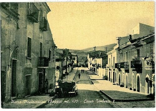 07865  CARTOLINA d'Epoca - FOGGIA: PIETRAMONTECORVINO