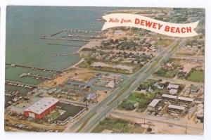Dewey Beach Rehoboth Delaware DE Aerial View 1971 Postcard