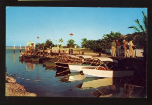 Greyhound Key, Florida/FL Postcard, Greyhound Post Office, Over-Seas Highway