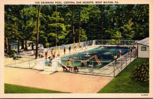 Pennsylvania West Milton Central Oak Heights Swimming Pool 1946