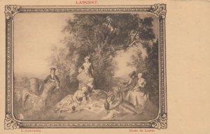 LANCRET , L'Automne , Musee du Louvre , 1900-10s ; TUCK 3005