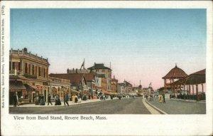 Revere Beach MA Band Stand c1905 Copper Windows Postcard