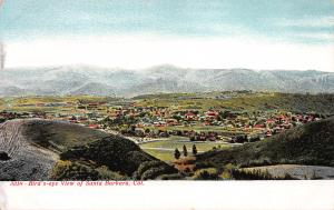 Bird's Eye View of Santa Barbara, California., Early Postcard, Unused