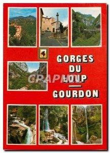 Modern Postcard Souvenir of a trip to the Gorges du Loup and Gourdon