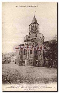 Old Postcard L & # 39Auvergne Picturesque Orcival L & # 39Eglise fomane