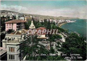 Postcard Modern San Remo Panorama Riviere des Fleurs Hotels and Villas
