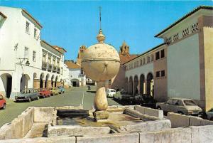 Portugal Evora Portas de Moura Square Renascence Fountain Auto Cars