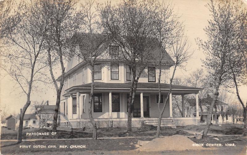 Sioux Center Iowa~1st Dutch Christian Reformed Church Parsonage~Homes~c1914 RPPC
