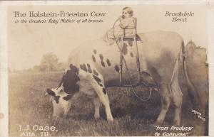 RP: The Holstein-Friesian Cow, Baby on back, I.J.Case , ALTA , Illinois , 00-10s