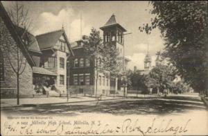 Millville NJ High School c1910 Postcard