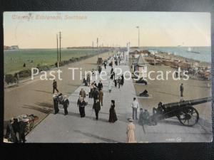 c1909 - Clarence Esplanade, Southsea - showing cannon