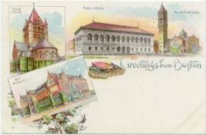 Multi-View, Town Views, Boston, Massachusetts, 1900