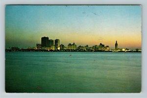 Miami FL- Florida, Skyline View Across Biscayne Bay, Chrome c1973 Postcard