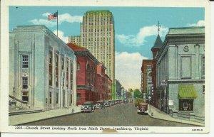 Lynchburg, Virginia, Church Street Looking North From Ninth Street