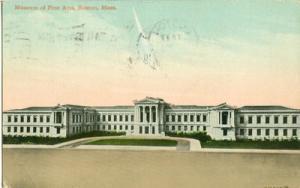 Museum of Fine Arts, Boston, Mass 1910 used Postcard