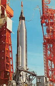 Atlas booster being readied for lunch on pad 14 Florida, USA Space Unused