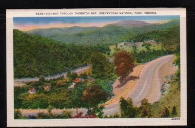 Virginia Postcard Hwy Thornton Gap Shenandoah Nat Park