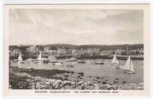 Yachting Harbor Rockport Massachusetts postcard